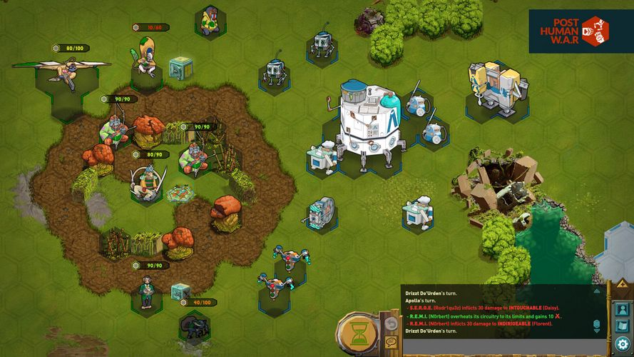 The absurd turn-based strategy game Post Human W.A.R is now available!