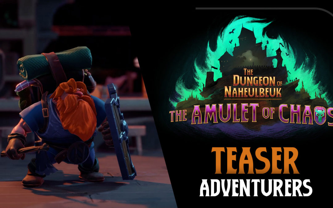 """Teaser: Adventurers from """"The Dungeon of Naheulbeuk: Amulet of Chaos"""""""
